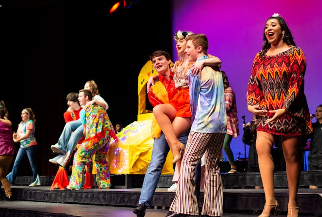 Butler Headliners perform on stage during vocal performance. All vocal ensembles will be featured in a concert on May 9 at the Capitol Federal Amphitheatre in Andover.