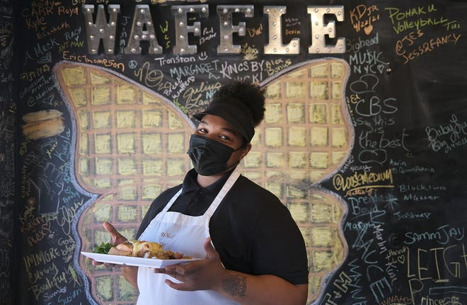 """Bree Brown the  """"waffle whisperer"""" at What the Waffle on East Long Street"""