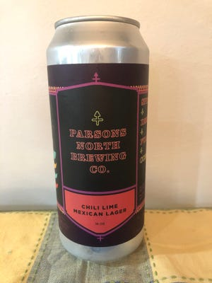 Parsons North makes two Mexican lagers — this one is flavored with lime and chili spices.
