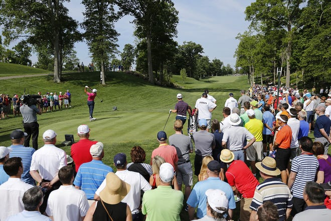 Jason Day tees off on the 14th hole during the second round of the Memorial Tournament on June 3, 2016. He and the other golfers will face a tougher Muirfield Village Golf Club after Jack Nicklaus made some changes to the course.