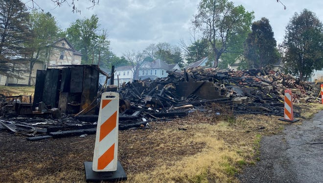 Two unoccupied homes were razed after sustaining extensive damage on Thursday. The cause of the fire is under investigation by the Cambridge Fire Department and Ohio Fire Marshal's Office.