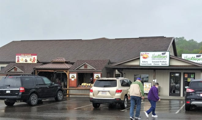 Even on a wet and dreary spring day, the parking lot of Hershberger's Farm and Bakery was full of cusotmers coming to gather goodies and see what's new. The store will be celebrating 35 years in business May 14-15.