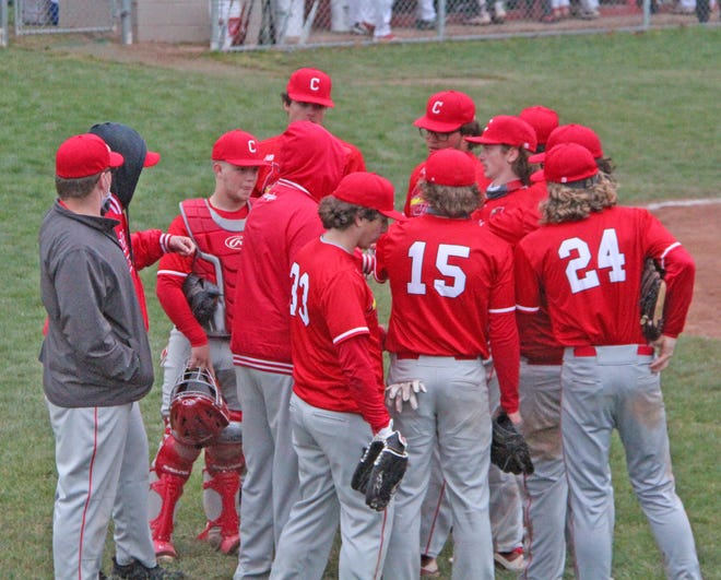 The Coldwater Cardinals, shown here in early season action, finished the weekend going 1-1 at the Flat Rock Invite
