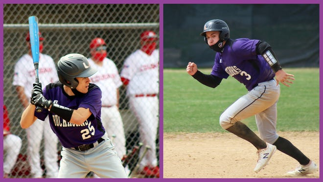 Juniors Jack Smith (left) and TJ Schmalzle (right) have contributed significantly to Paupack's success on the diamond with sold baserunning. To date the Buckhorns are 9-2 overall and in second place among District 2 Class 5A teams.