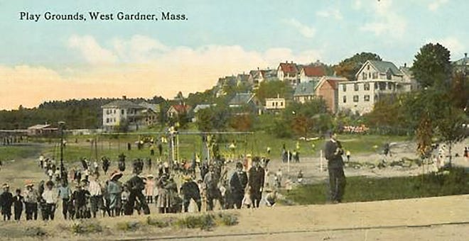 A postcard of Greenwood Playground from sometime in the 1920s in Gardner.