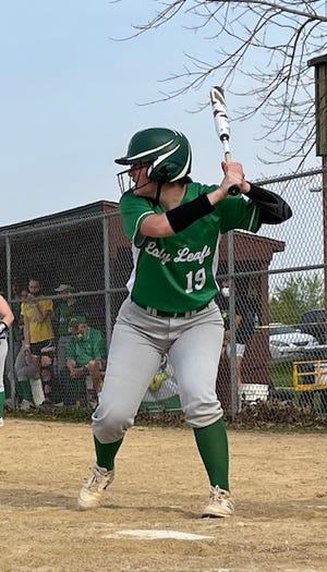 GHS senior Robyn Nelms went 3 for 4 at the plate with 4 RBI's in the recent softball game against ROWVA/Williamsfield in Oneida