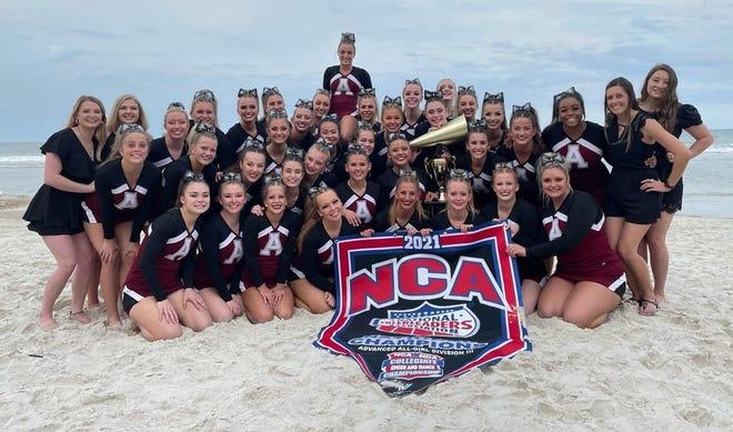 The Alma Cheer team in Daytona Beach, Florida.