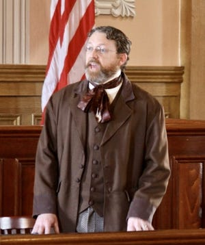 """Travis Henline will portray Francis Pierpont, the """"Father of West Virginia,"""" on Sunday, May 16, in a History Alive program."""