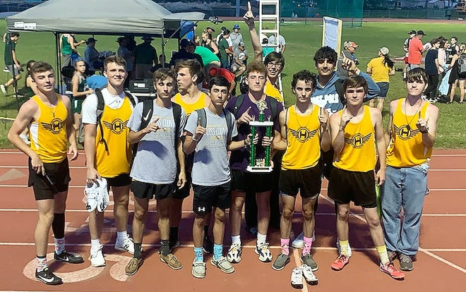 The Hornbeck Hornets captured first place in the Region II-C track and field championships at Hackberry High School.
