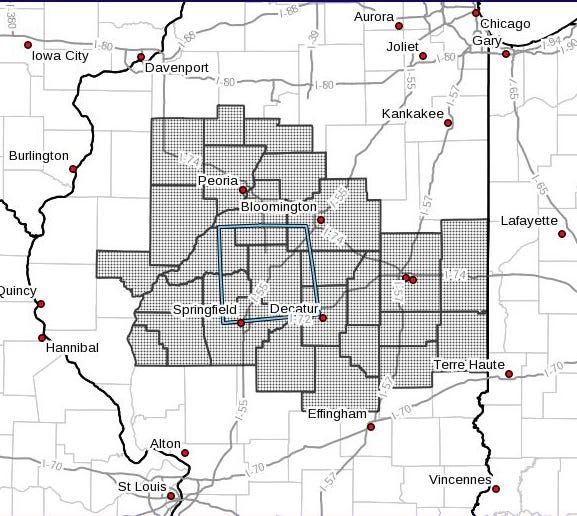 Area that has a Severe Thunderstorm Watch