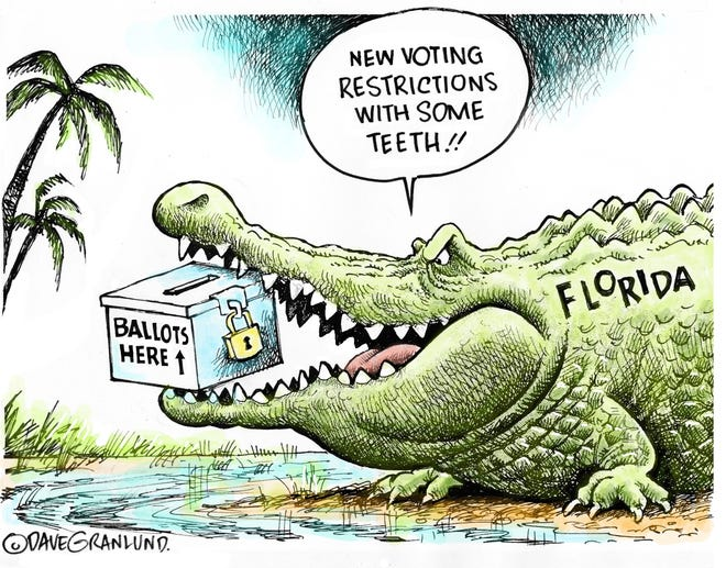 Dave Granlund on Florida voting restrictions