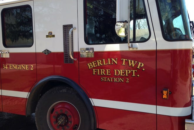 the Berlin Township Volunteer Fire Department was one of four area fire departments called to put out a fire in the Newport Woods' apartment complex early Monday morning.