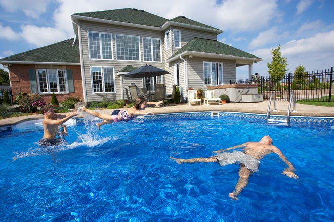 A swimming pool offers hours of fun for everyone. In addition to adult supervision, safety code compliance helps ensure a safer, more enjoyable pool experience.