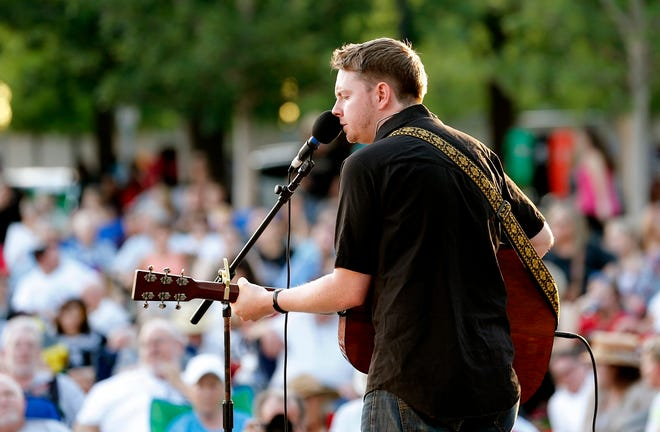 Grammy-nominated Oklahoma singer-songwriter John Fullbright performs a free concert in 2014 at the Myriad Botanical Gardens in Oklahoma City. He is part of the lineup for this year's Bob Childers' Gypsy Cafe songwriter festival.