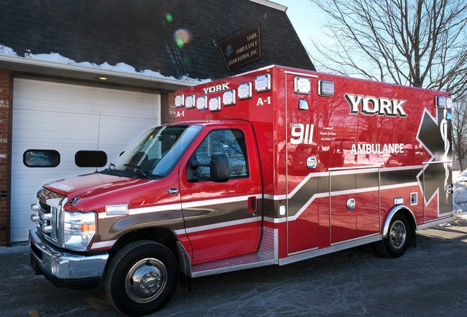 The side of a York Ambulance A-1, pictured here in 2019, includes a tribute to paramedic and Berwick Fire Capt. Joel Barnes, who was 32 when he lost his life March 1, 2019, while battling a four-alarm fire at an apartment building in Berwick.