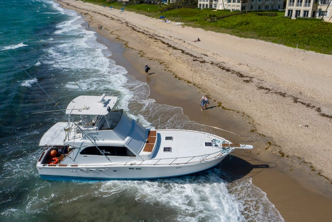 The U.S. Border Patrol arrested 29 Haitians who came ashore on a boat near Gulfstream Park in Boynton Beach, Florida on May 3, 2021. The agency said it was a human smuggling operation.