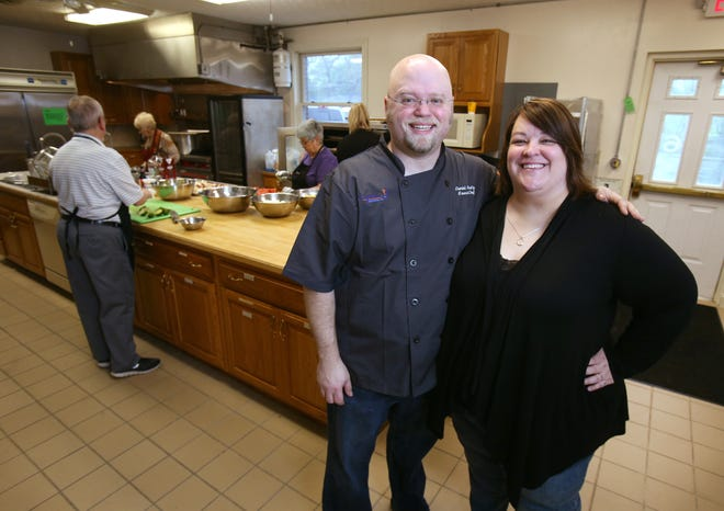 Amanda and Daniel Anschutz began making free meals for people coping with life-threatening or terminal illnesses in 2017. They are about to make and deliver their 10,000th meal. The couple and a group of  volunteers prepare the meals in the kitchen at Evermore Community Church in Lake Township.