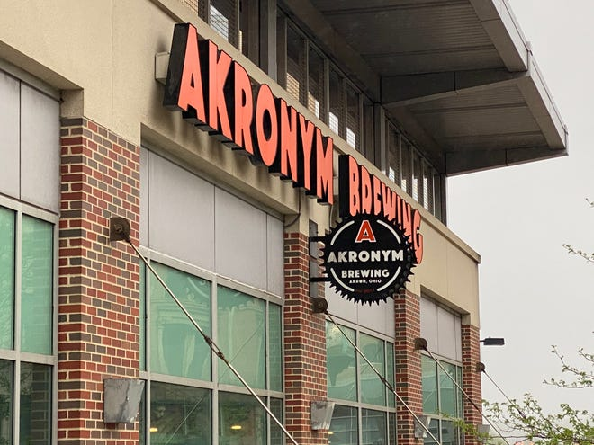 Akronym Brewing has a visible presence at its locale in the Akron area.