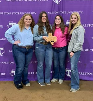 The Stephenville FFA Dairy Cattle team placed seventh in the state. Team members are Esmae Velsen, 3rd High Individual; KK Osinga,12th high individual; Hannah Holden; and Hollis Wright.