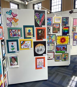Artworks created by Cleveland County students are on display at the Arts Council.