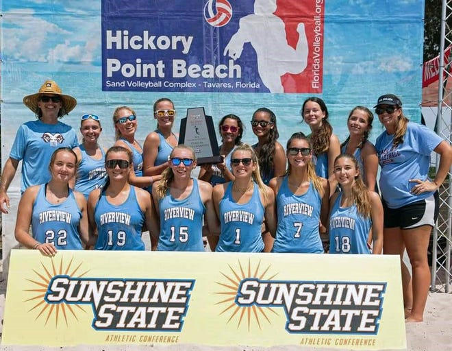 The Riverview High sand volleyball team won the Class AA state title this past weekend in Tavares.