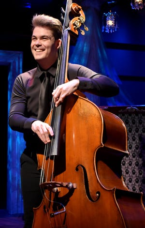 """Isaac Mingus plays double bass in the Florida Studio Theatre cabaret show """"Vintage POP!"""""""