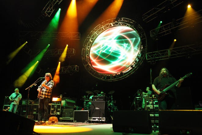 Widespread Panic performs at the Tuscaloosa Amphitheater in 2013.