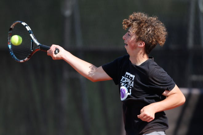 Topeka West's Carter Cool captured his first city championship last week, winning the No. 1 singles title at the City Meet, a win that clinched the Chargers' first city crown in more than 30 years and first under longtime coach Kurt Davids. Cool added a runner-up finish at Monday's Centennial League meet.