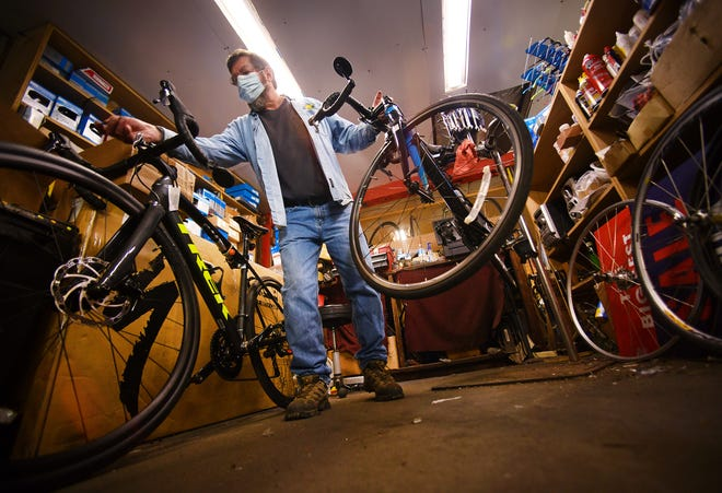 Don Walker is the manager at Frank's Bicycle Barn in Westboro.