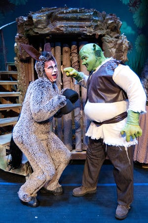 """CharACTers Inc. presents """"Shrek the Musical"""" Friday through Sunday and May 14-16 at the Mort Glosser Amphitheatre."""