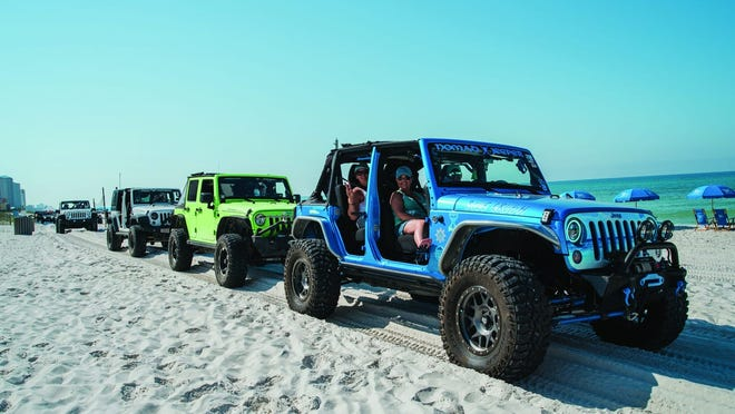 The sixth annual Florida Jeep Jam is May 12-15 in Panama City Beach.