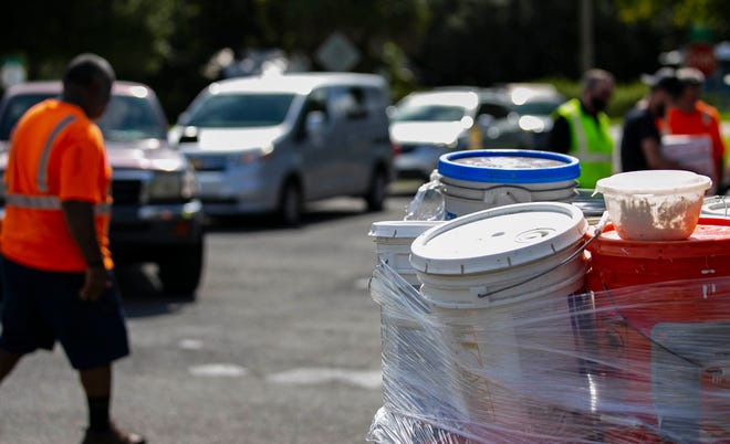 Household hazardous waste items, like these collected last year in Florida, can be freely dropped off next month during the city of Tuscaloosa and Nucor Steel's Household Hazardous Waste Disposal Day.