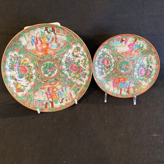 19th-century Rose Medallion Plates.