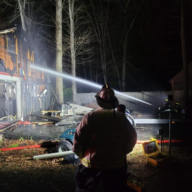 Mansfield firefighters extinguished a garage fire on Winter Street May 1.