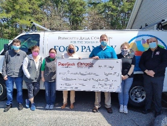 From left: Kyle Sullivan, support services; Moira Coffey, CFO; Kate Eby, volunteer; Suzanne Giovanetti, CEO; Eric Johnson, NEAE area manager; Holly Wood, Kingston dual shift leader; and Abe Viveiros, NEAE RVP.