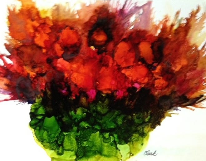 """""""Bursting Forth,"""" by Candace Clark."""