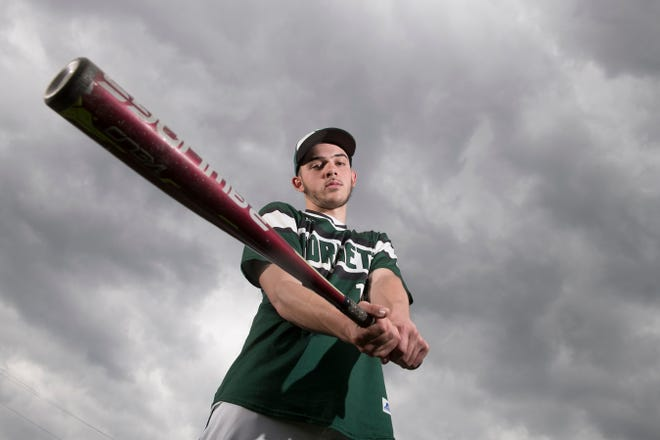 Pemberton senior Jaysen Emmons has overcome adversity to become the Hornets starting quarterback in the fall and the leader of the school's baseball team this spring.