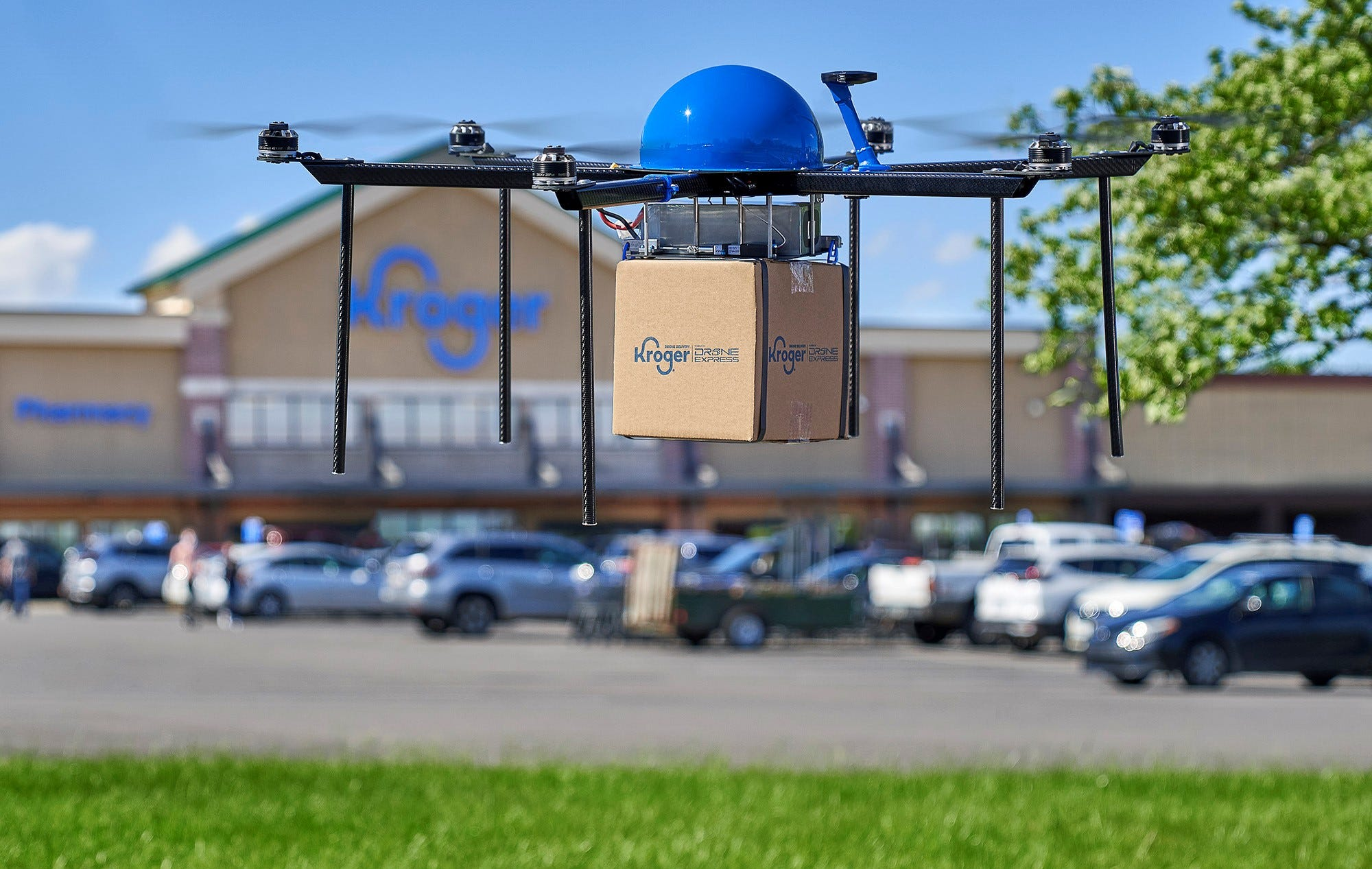 Kroger begins testing home grocery delivery with drones