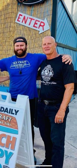 Nicholas Elmer and Blaine Elmer. The father and son, owner and chef at Sea-Craft Tiki Bar and Grill in North Fort Myers, died May 1. Blaine Elmer in a motorcycle crash.  Nicholas' death was unrelated. Friends are petitioning to hold the drive who collided with Blaine Elmer responsible.