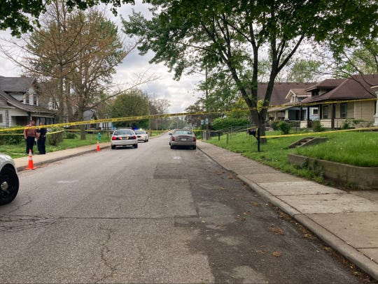 Officers with the Indianapolis Metropolitan Police Department responded to the 1200 block of Congress Avenue on a report of a person shot on Monday, May 3, 2021. A woman died, police said.