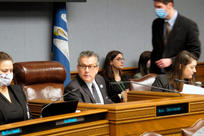 """House Appropriations Chairman Jerome """"Zee"""" Zeringue, R-Houma, speaks during a meeting of his committee, which unveiled its budget proposal for next year, on Monday, May 3, 2021, in Baton Rouge."""