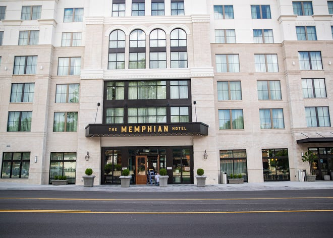 The Memphian hotel, the seven-story, 106-room hotel at Overton Square on Monday, May 3, 2021.