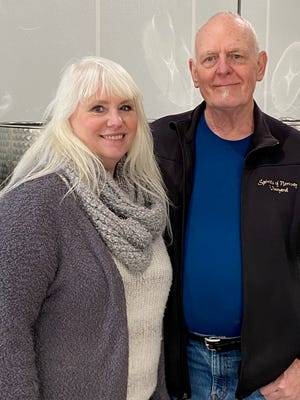 Randy Larson and Cindee Henrichs run Spirits of Norway Vineyard in Racine County.