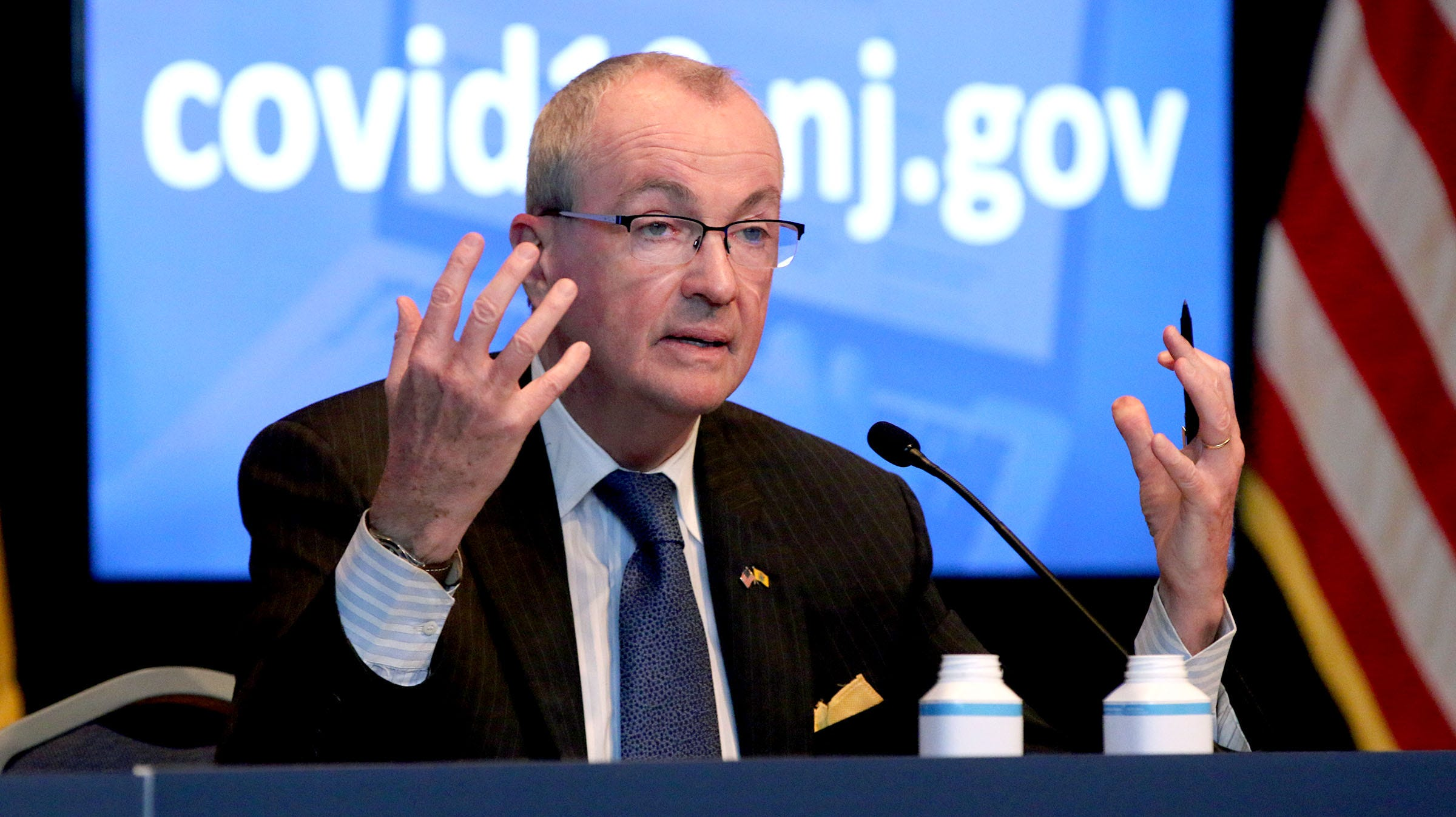 NJ Governor Phil Murphy said he is still awaiting federal guidance on whether he can spend federal stimulus money to help undocumented workers.