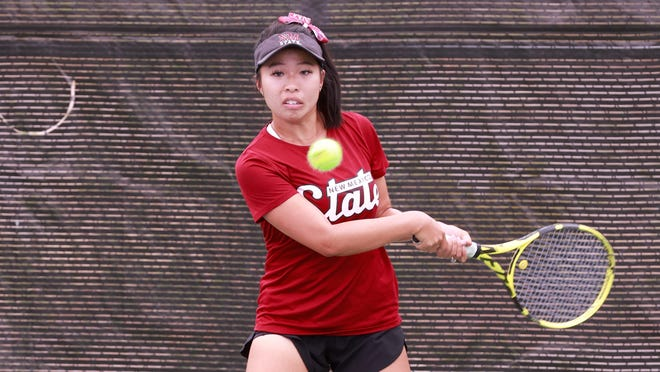 New Mexico State tennis player Bella Nguyen.