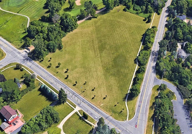 An overhead view of the property that was officially made a park near the intersection of Ann Arbor Trail and Beck Road in Plymouth Township.