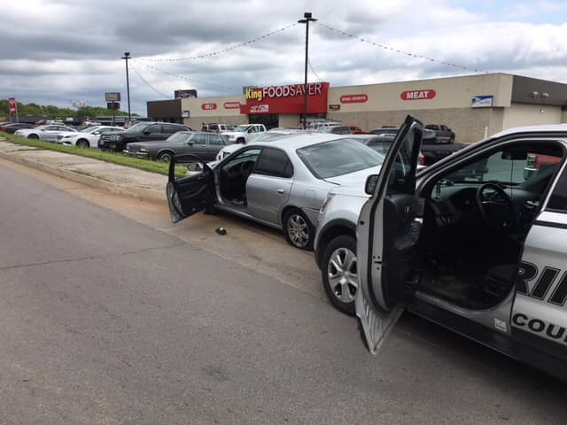 The Stone County Sheriff's Office says a deputy shot an armed man Monday after a pursuit.