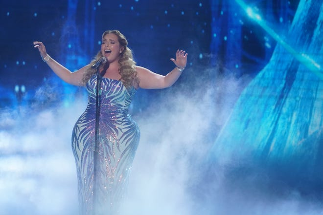 """Grace Kinstler, 20, closed the show with a powerful renditionof """"Into the Unknown"""" from """"Frozen II."""""""