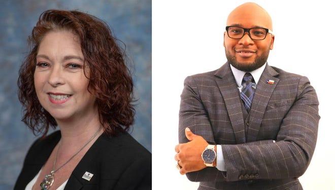 Bastrop school board incumbent Kellye Seekatz (left) defeated challenger Joseph Thompson for the Place 2 seat.