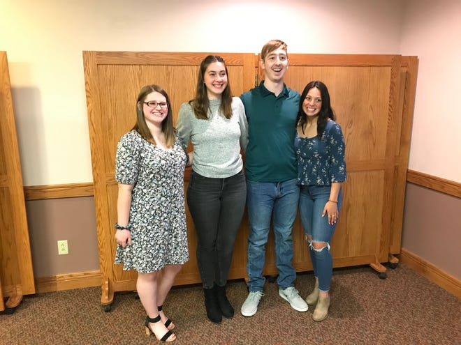 Washington Ruritan Club announced that Emilee Ritchie, left, Allison Lacher, Aiden Trummer and Calli Swisher received scholarships. Washington Ruritan Club Rising Seniors scholarships worth $1,200 were awarded recently to the Marlington High School students.